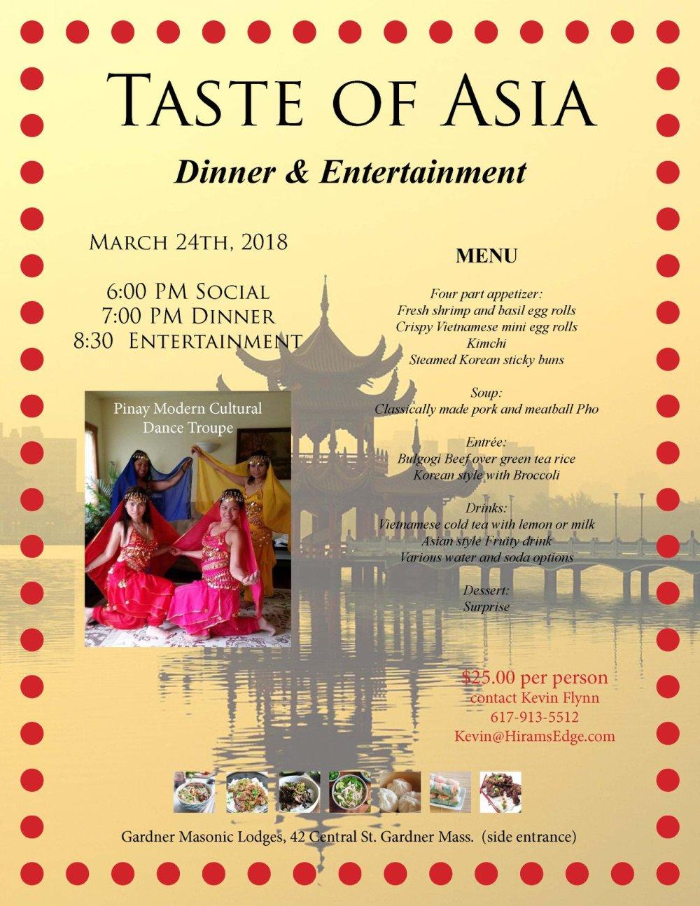 Taste of Asia Flyer