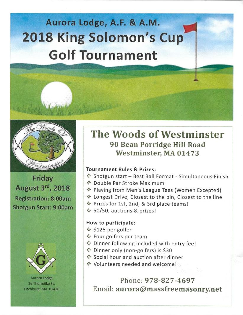 King Solomon's Cup Masonic Golf Tournament